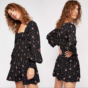 FREE PEOPLE Two Faces Black Mini Dress Size Small